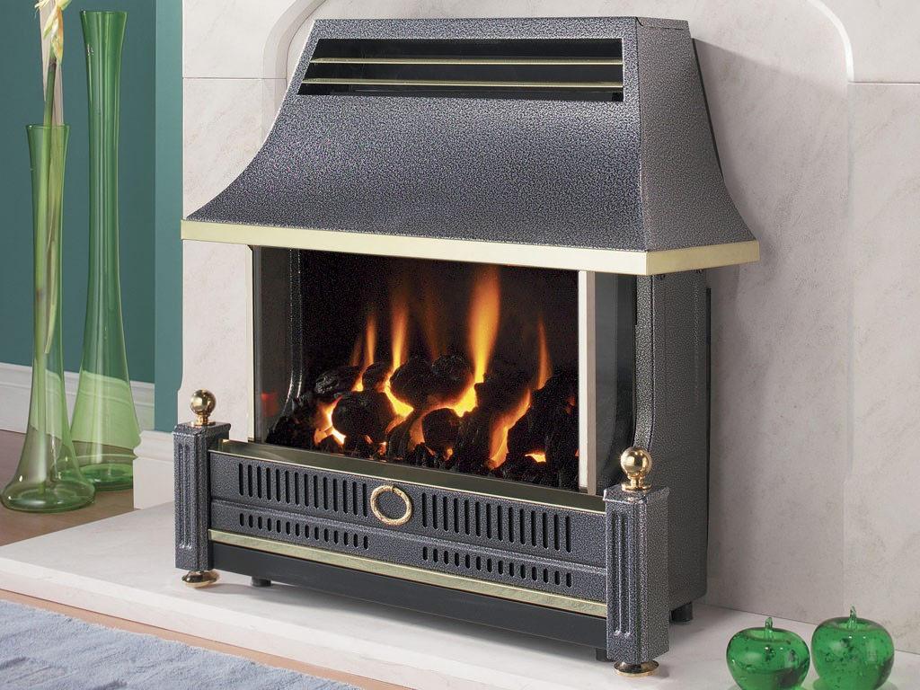 Flavel Renoir Outset Remote Control Gas Fire Black Frecn0rn
