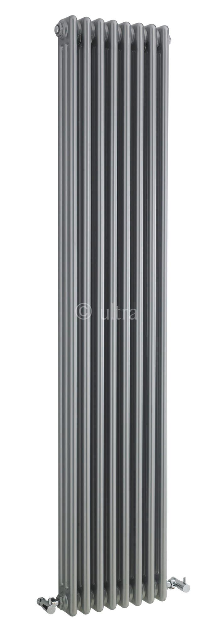 Ultra Colosseum Triple Column 381 X 1800mm Silver Radiator
