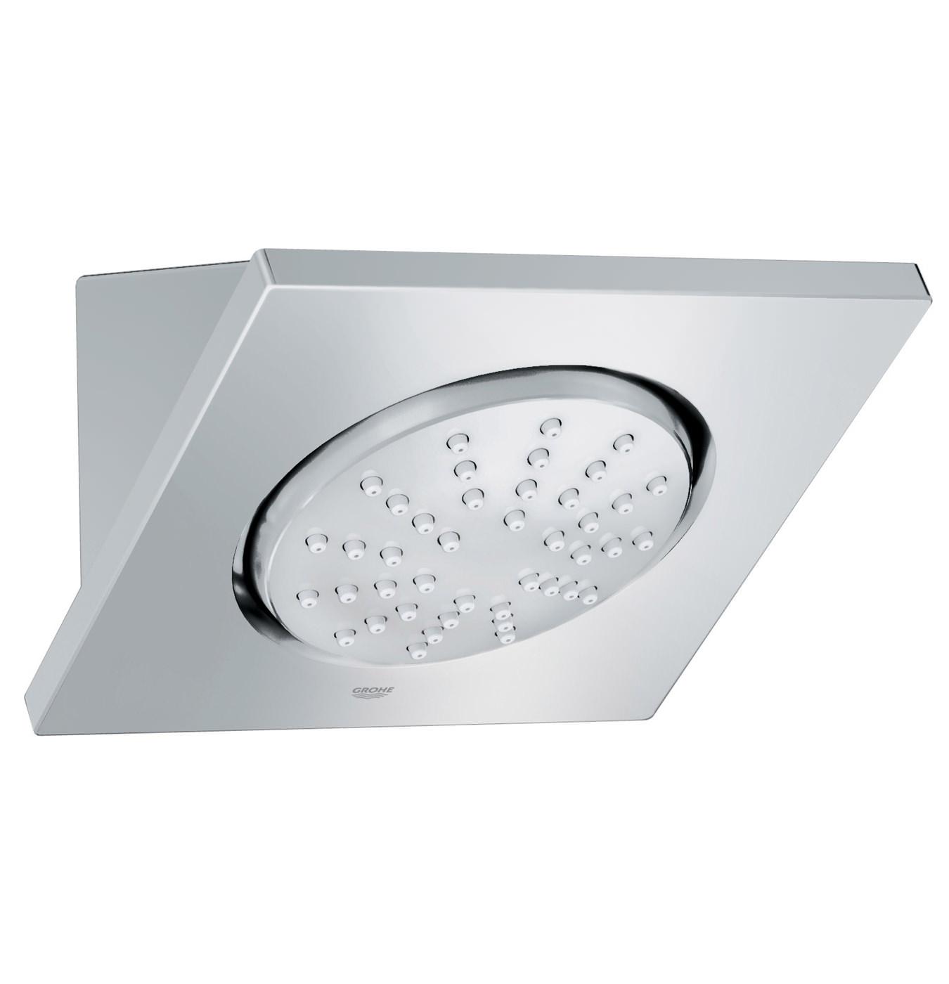 grohe rainshower f series head shower 127mm chrome 27253000. Black Bedroom Furniture Sets. Home Design Ideas