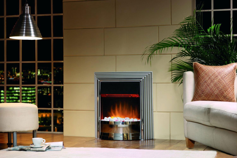dimplex castillo manual control outset electric fire chrome cst20