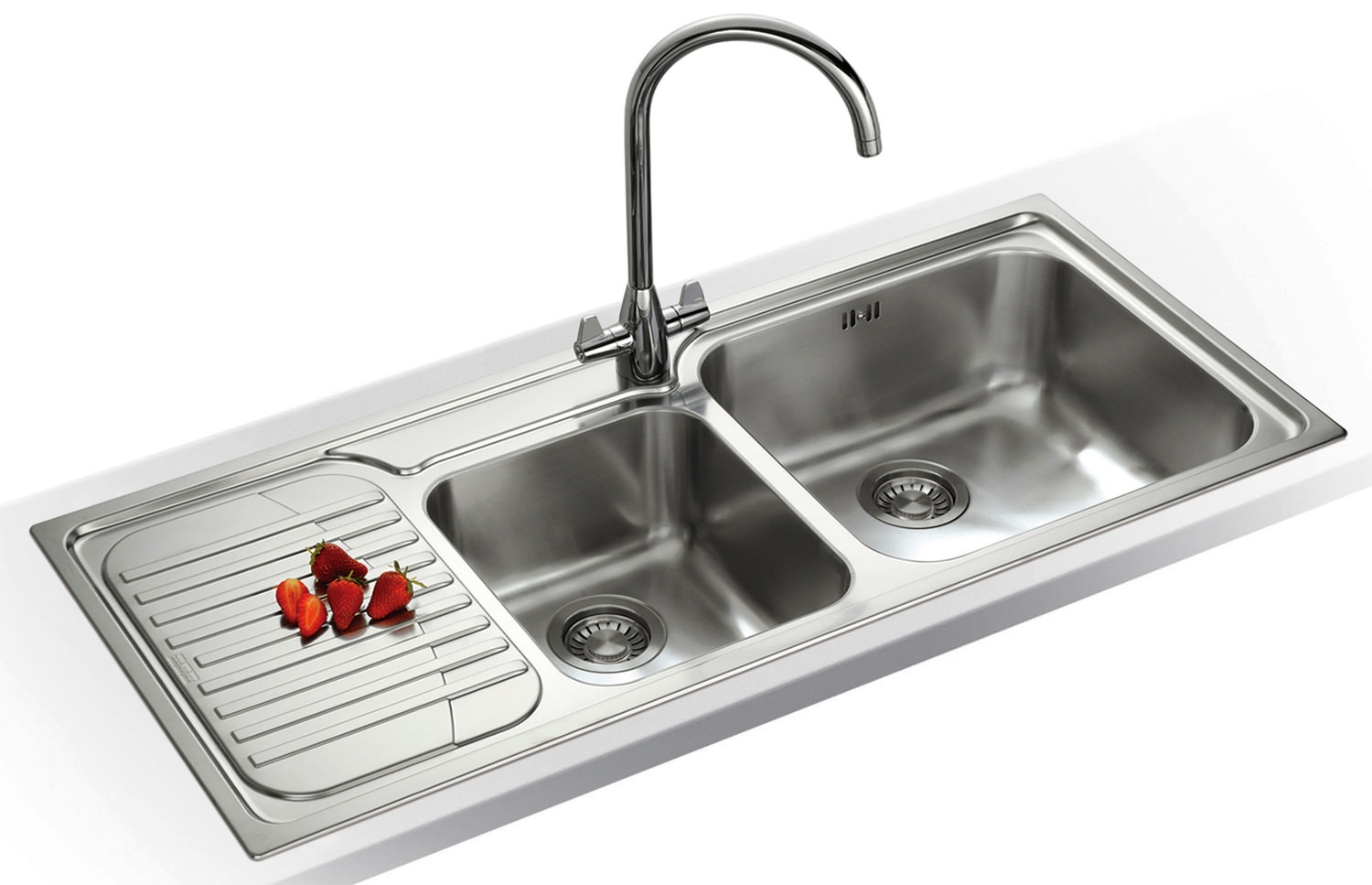 ... of Franke Galassia GAX 621 1.5 Bowl Stainless Steel Kitchen Inset Sink