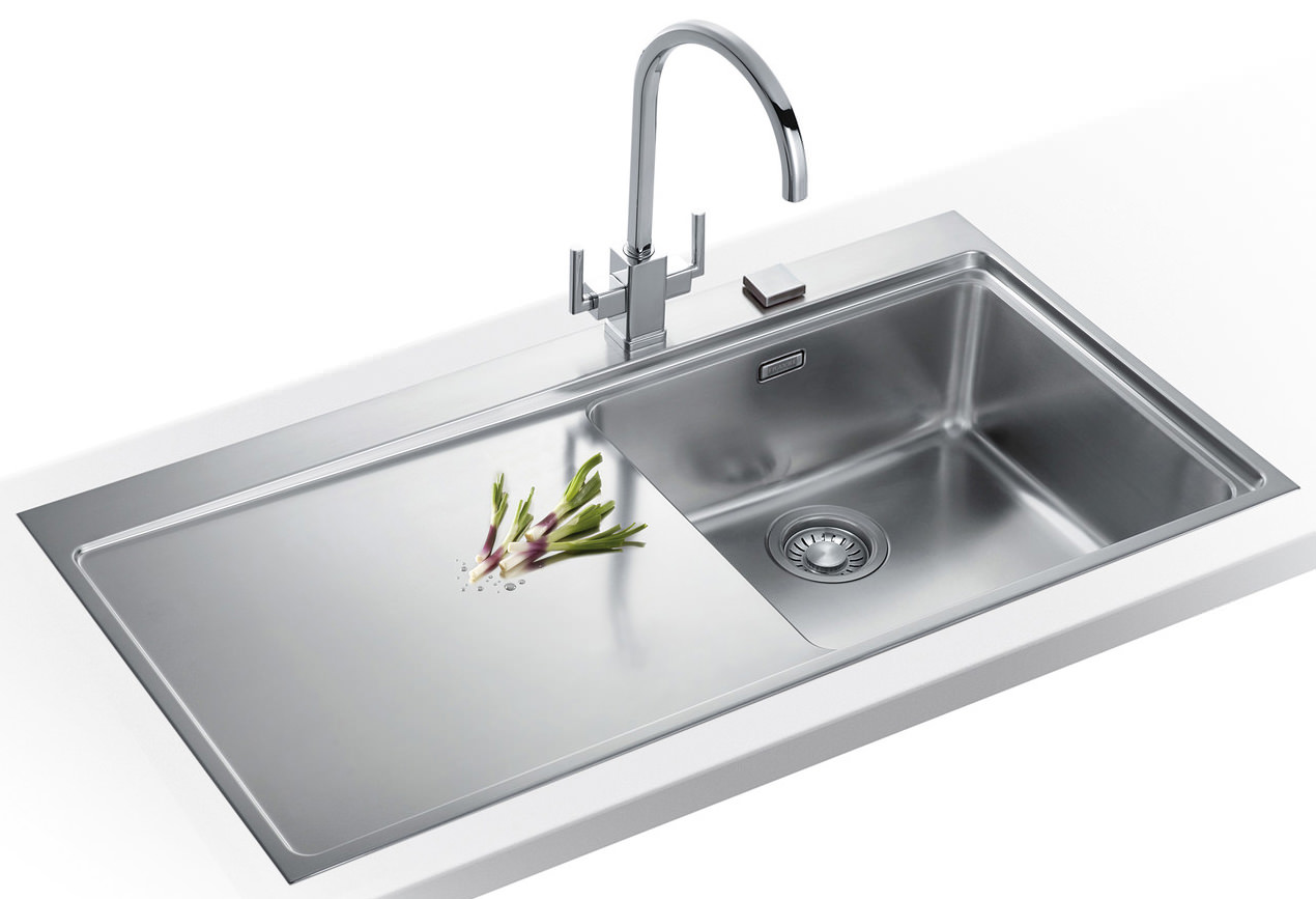 Franke Stainless Steel Sink : Franke Mythos Slim-Top DP MMX 211 Stainless Steel Kitchen Sink And Tap ...