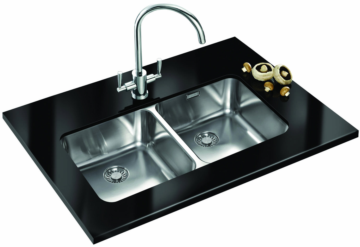 Franke Double Sink Undermount : ... of Franke Largo LAX 120 36-36 Stainless Steel 2.0 Bowl Undermount Sink