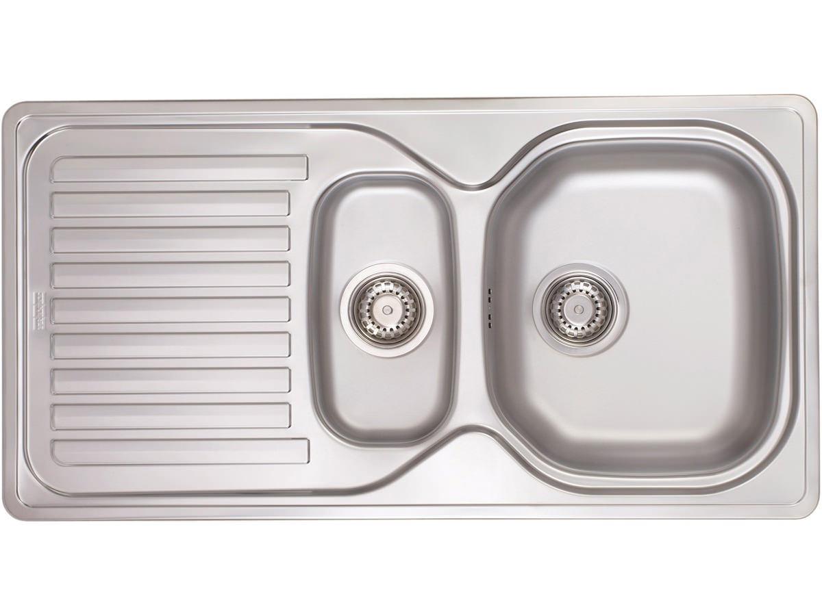 Franke 651 Sink : Franke Elba ELN 651 Stainless Steel 1.5 Bowl Inset Kitchen Sink Image