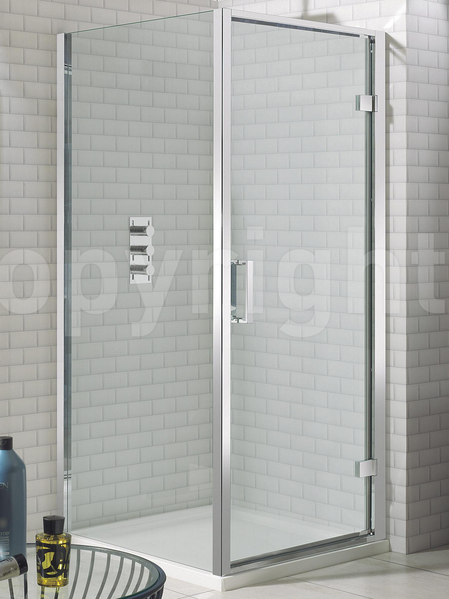 Simpsons elite framed hinged shower door 800mm vtopaller Gallery