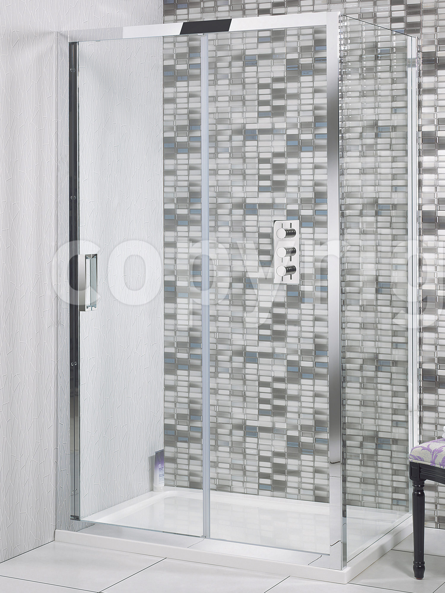 Simpsons Elite Single Shower Sliding Door 1700mm LSLSC1700