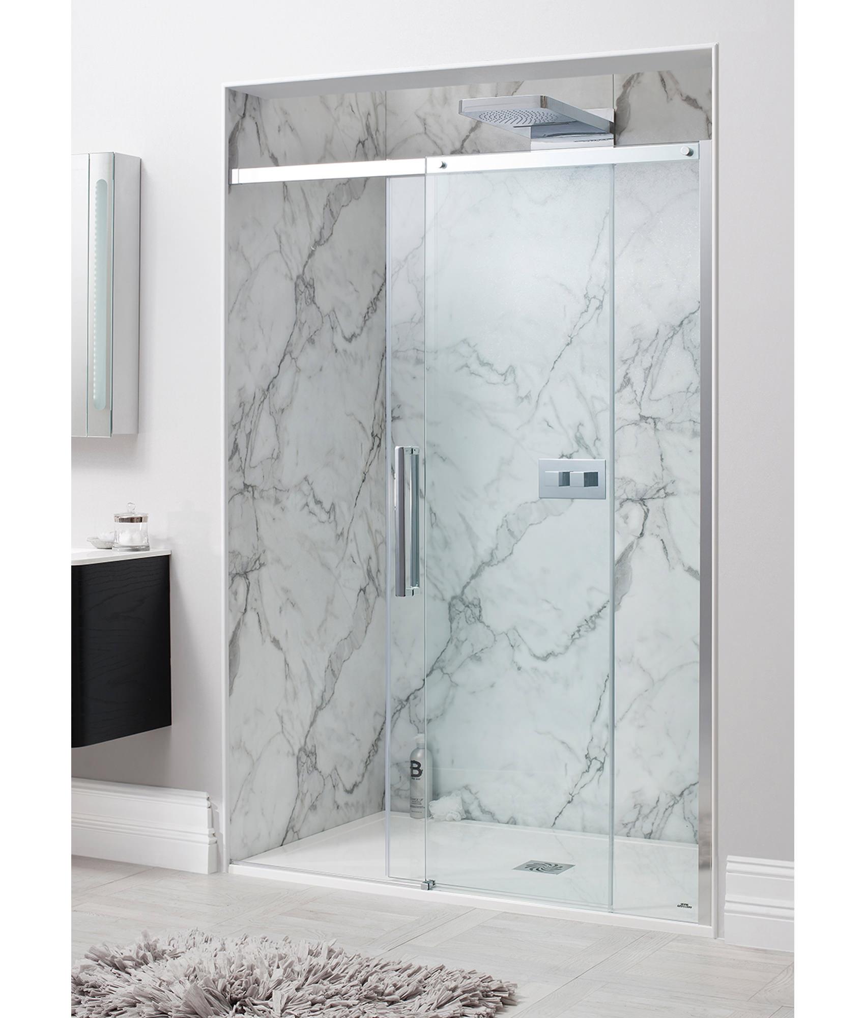 Two Panel Sliding Shower Bath Screen Simpsons Ten Frame Less Single Sliding Shower Door 1200mm