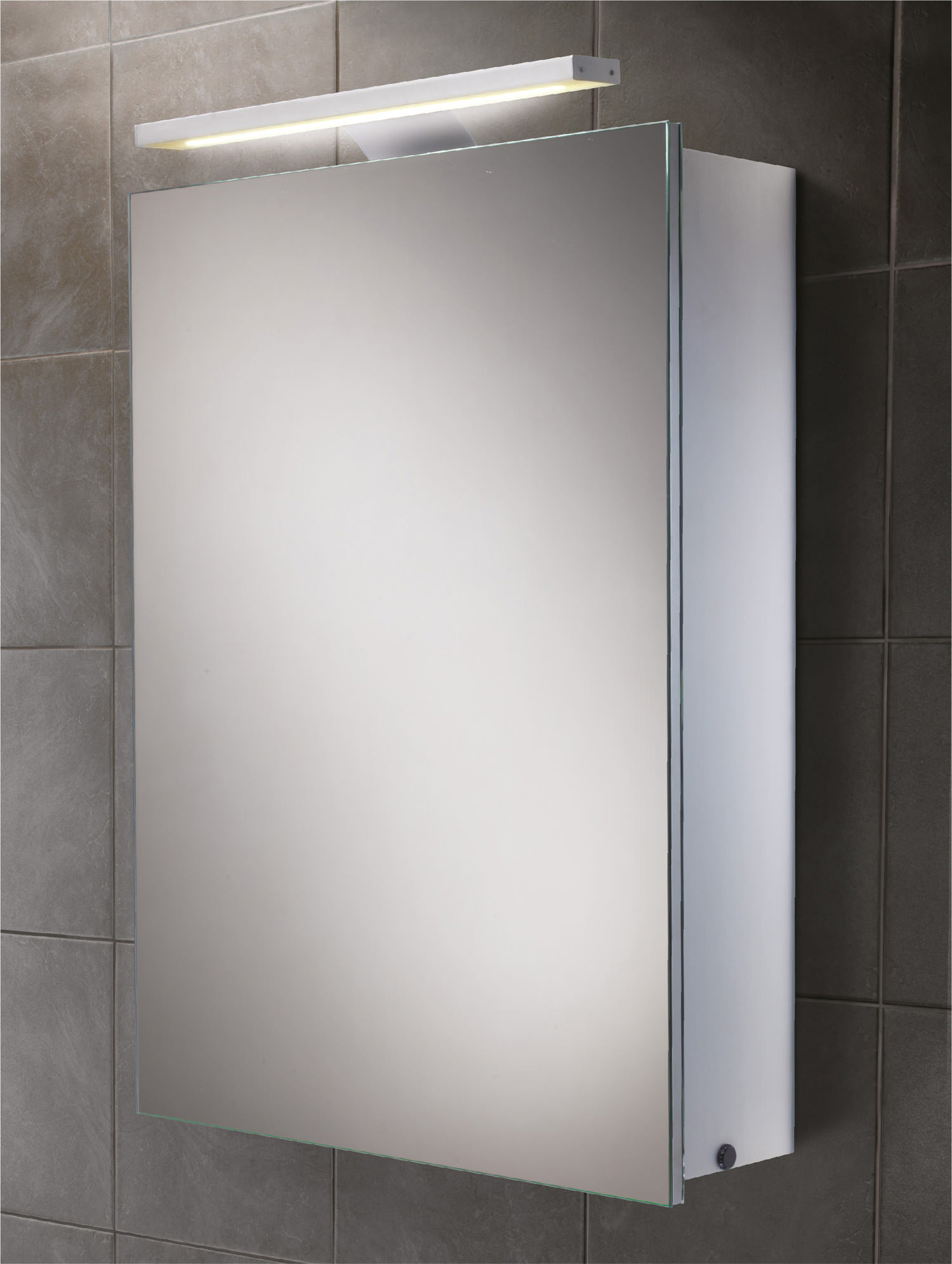 led bathroom cabinet hib orbital steam free led illuminated aluminium mirrored 13425