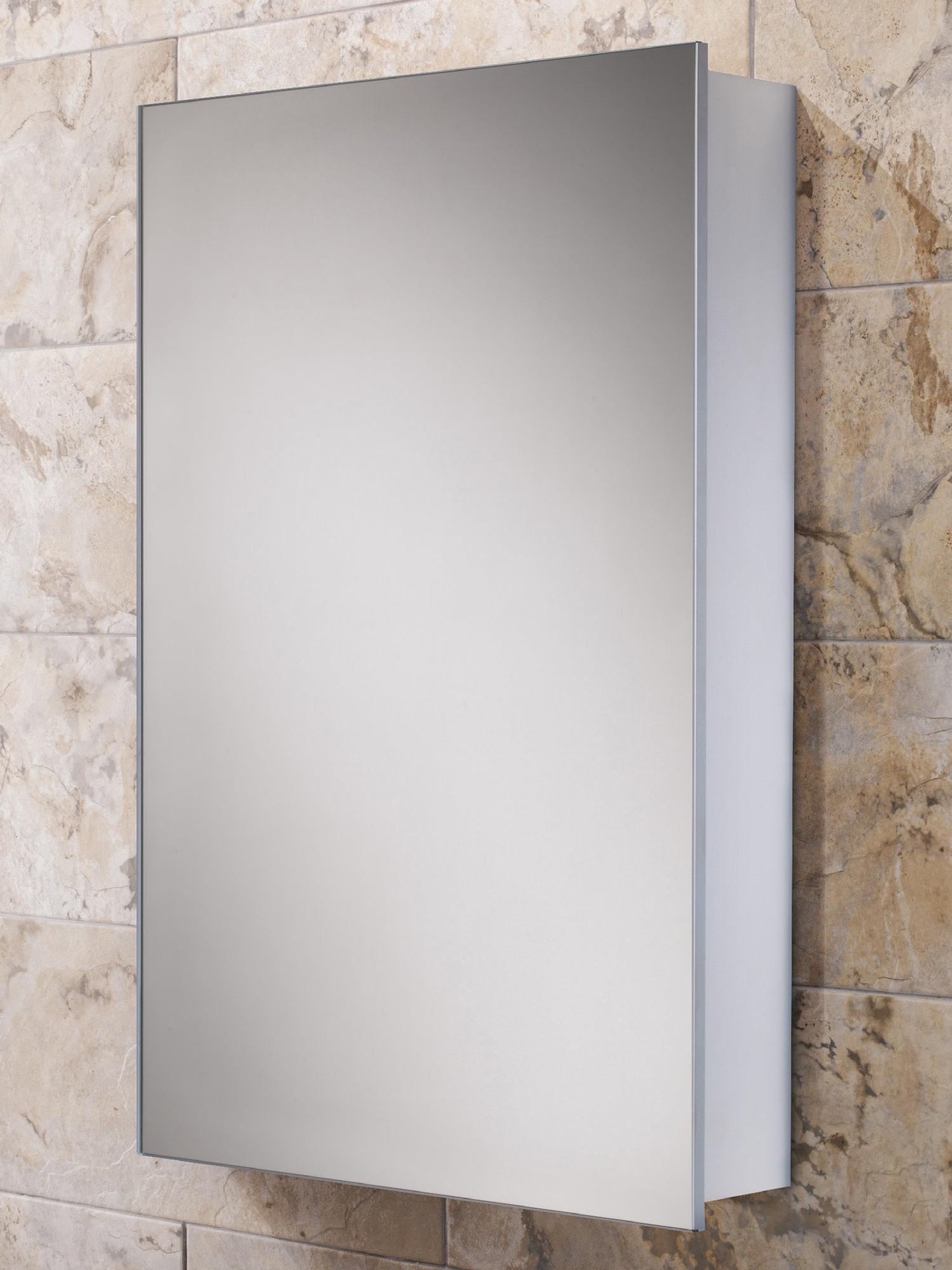 Hib Callisto Slim Line Aluminium Mirrored Cabinet 500 X