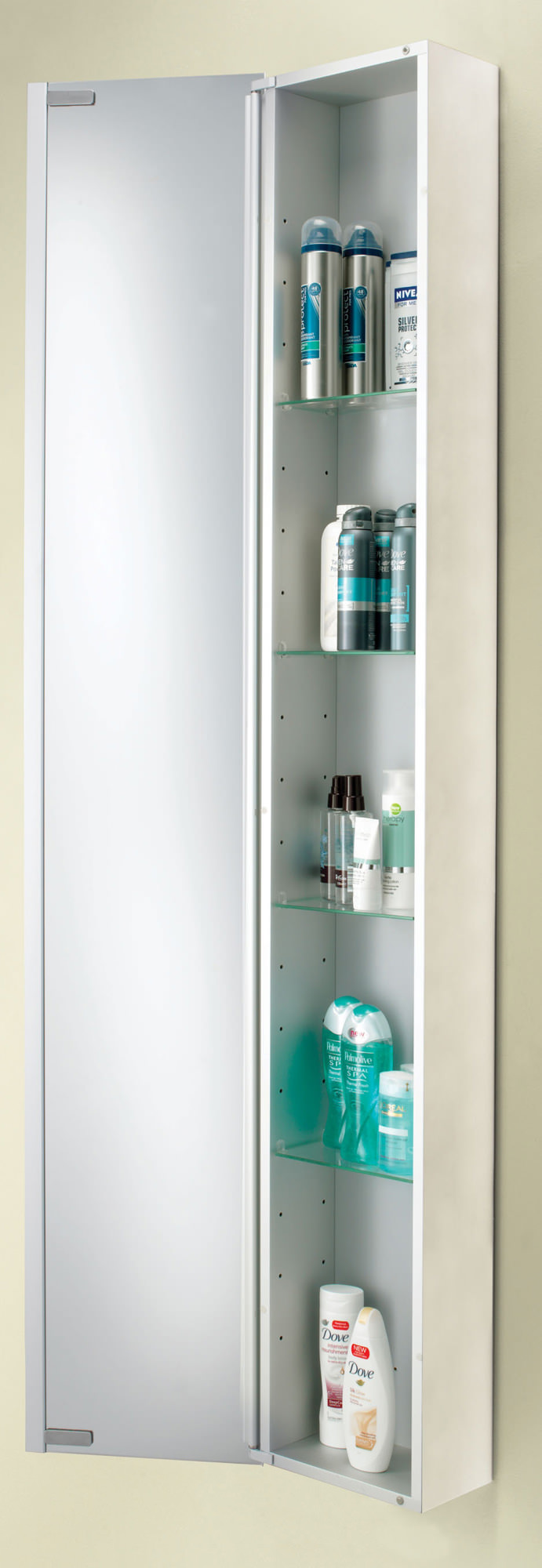 HIB Mercury Tall Aluminium Cabinet 300 x 1700mm | 43700