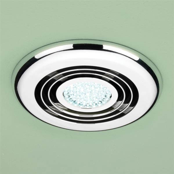HIB Turbo Bathroom Inline Illuminated Chrome Extractor Fan- 32300