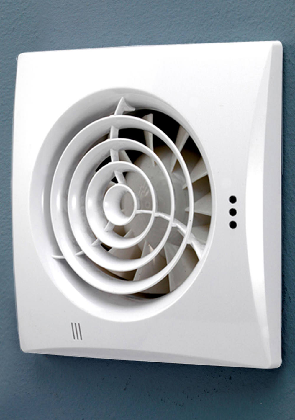 Wall Mounted Extractor Fan : Hib hush wall mounted white fan with timer and humidity