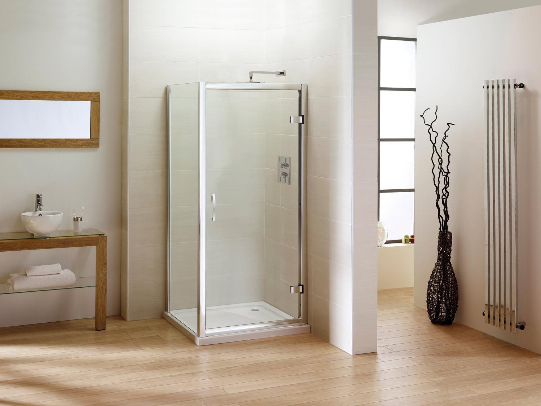 April identiti2 hinge shower door semi frame less 1000mm for 1000mm pivot shower door