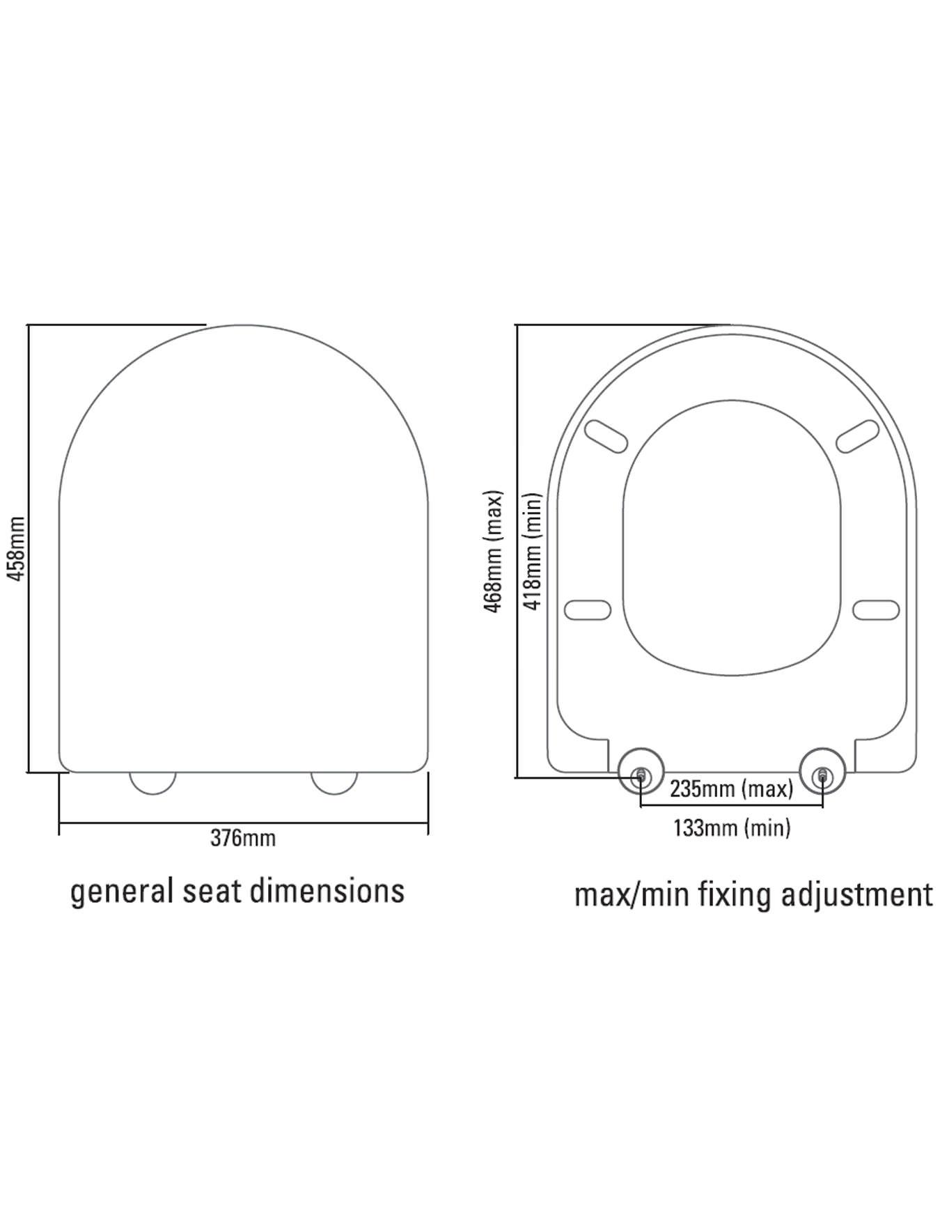 Astonishing Roper Rhodes Define Soft Closing Toilet Seat White 8704Wsc Machost Co Dining Chair Design Ideas Machostcouk