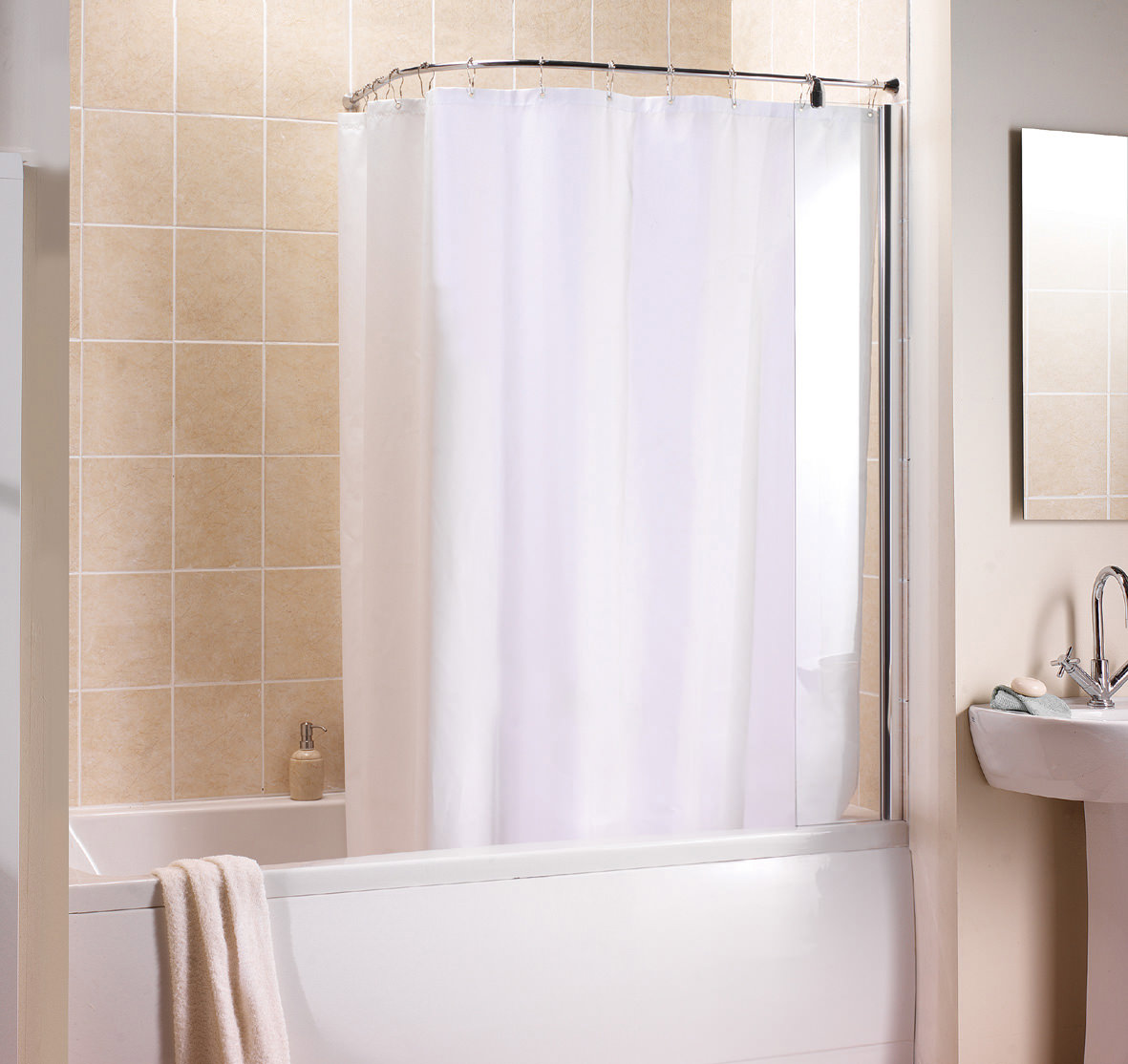 Curved Shower Curtain Rail Over Bath Curtain Menzilperde Net