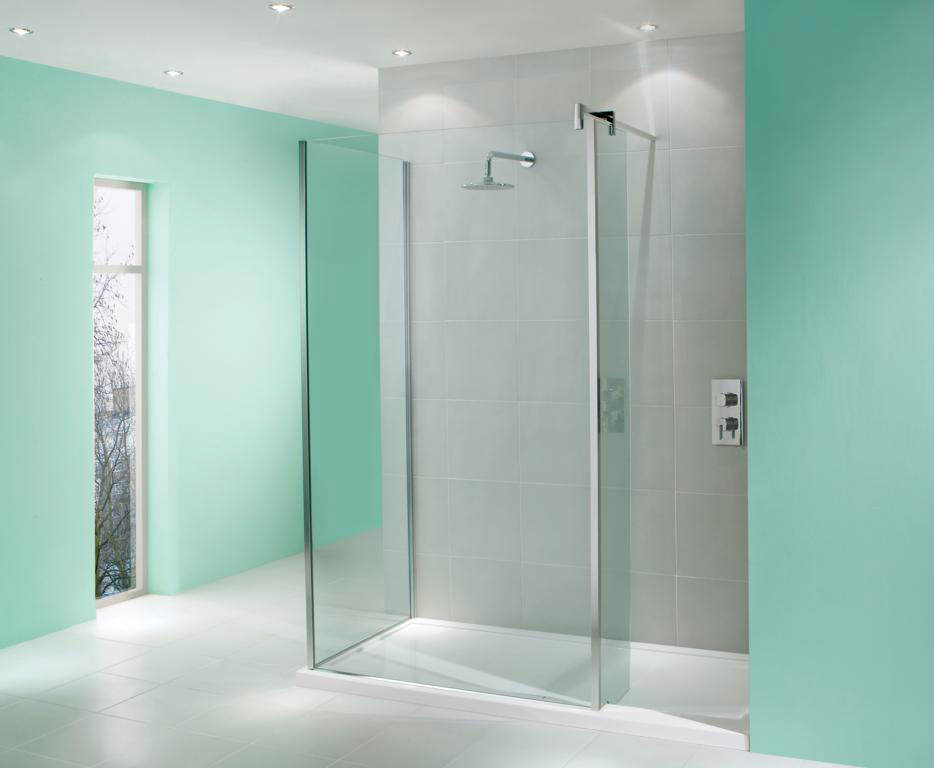 Manhattan walk in shower enclosure 1700 x 800mm without for Walk in shower tray