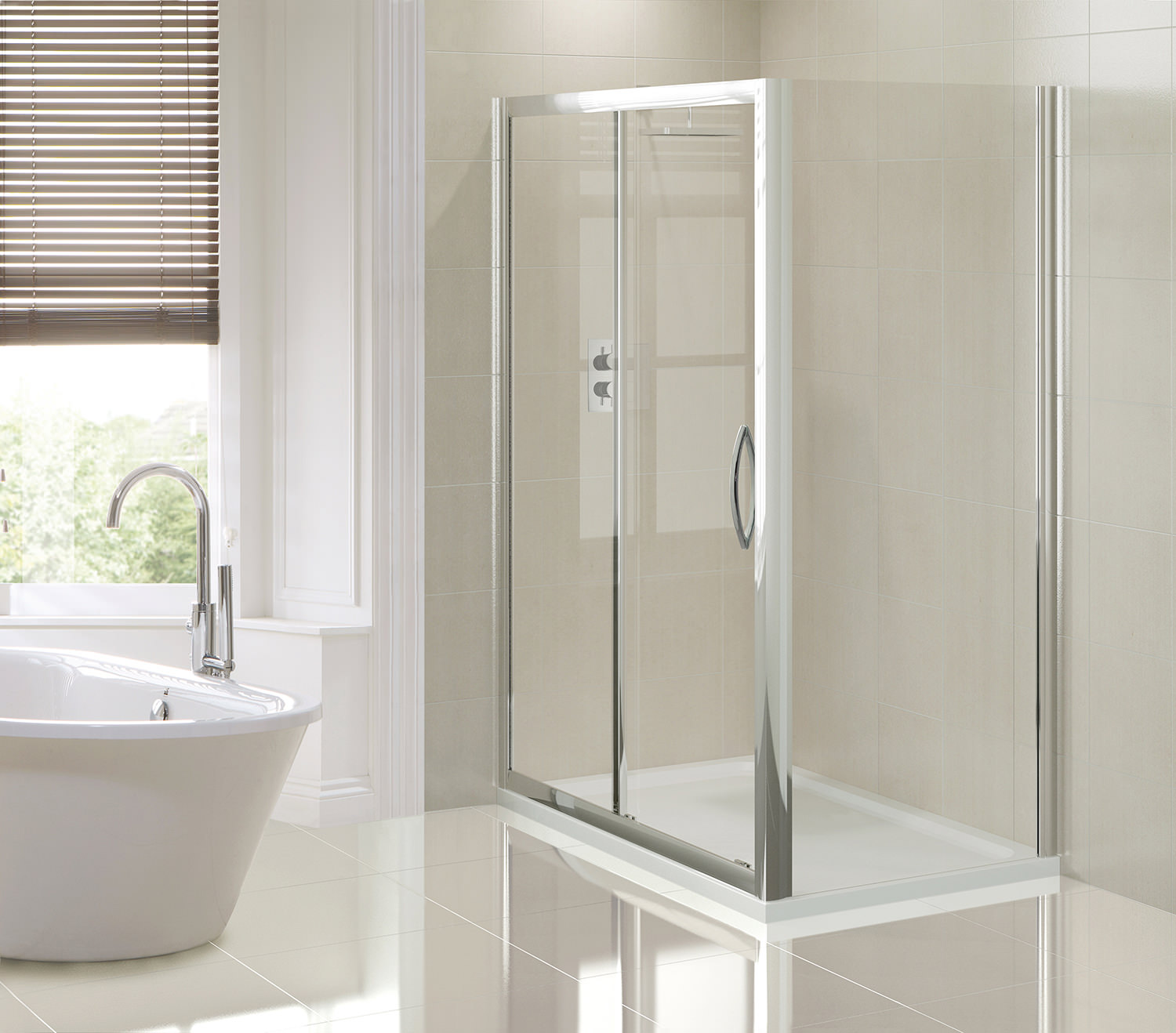 Aquadart venturi 8 1200mm sliding shower door aq8212s - Bathtub in shower ...
