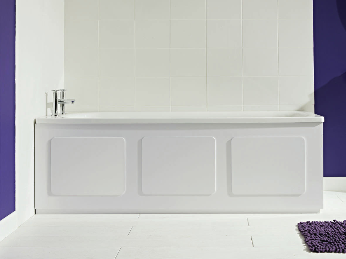 Bathrooms baths front end panels croydex storage panel gloss white