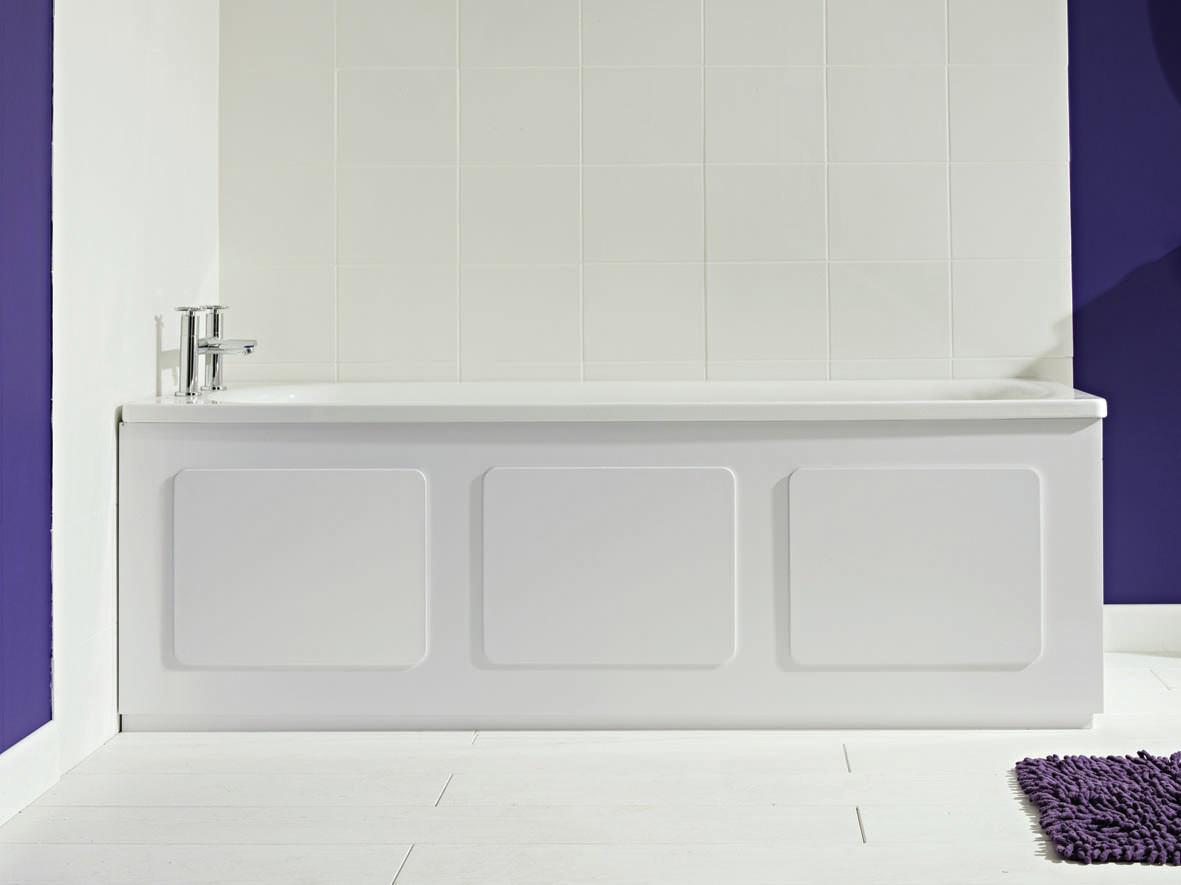 croydex storage bath panel gloss white wb715122. Black Bedroom Furniture Sets. Home Design Ideas