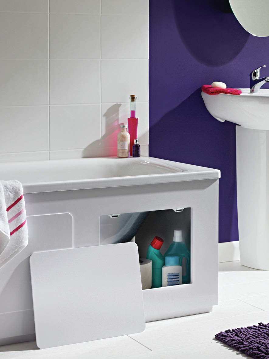 Croydex Storage Bath Panel Gloss White Wb715122