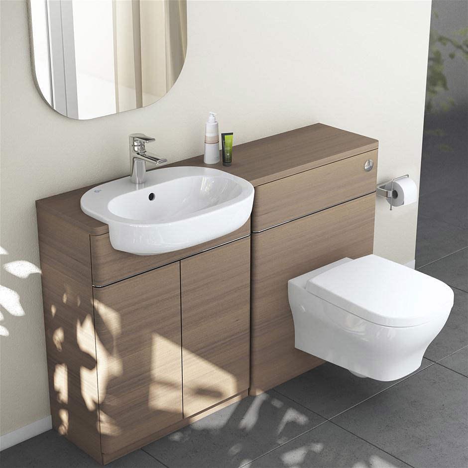 ideal standard softmood semi countertop basin unit white. Black Bedroom Furniture Sets. Home Design Ideas