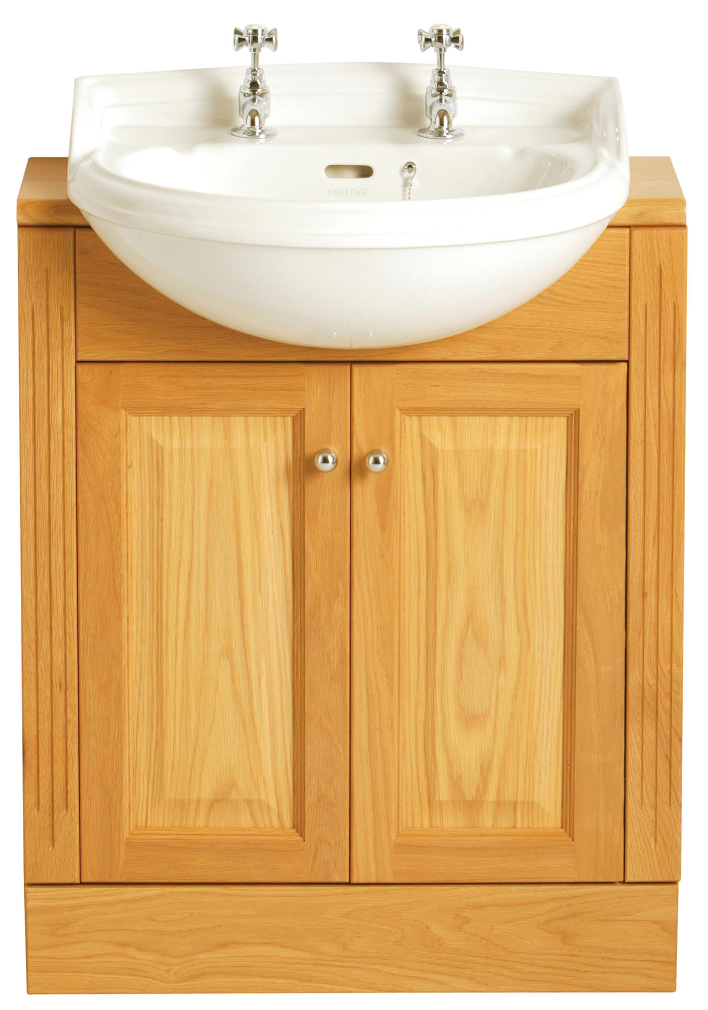 dorchester 1 taphole medium semi recessed basin - pdw361