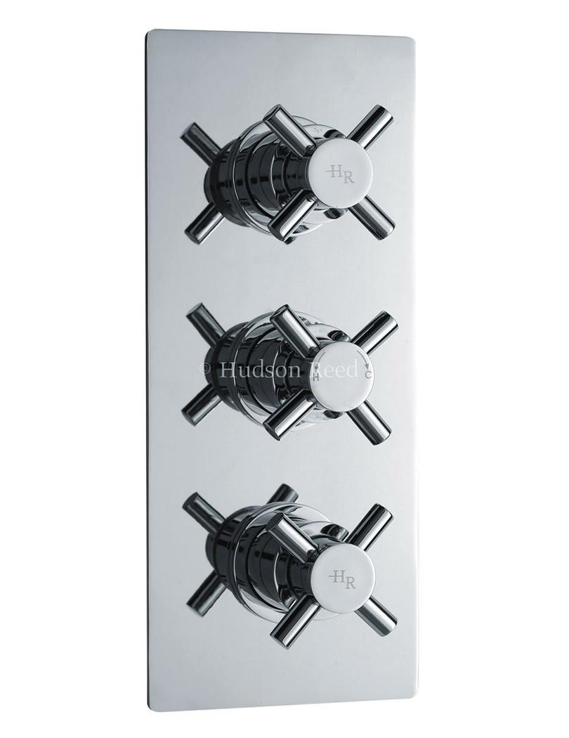Kristal Triple Concealed Thermostatic Valve With Diverter - KRI3023