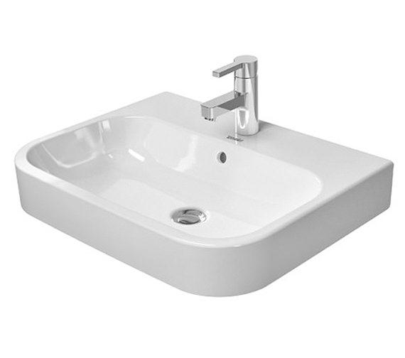 duravit happy d2 600 x 460mm ground countertop basin 2315600000. Black Bedroom Furniture Sets. Home Design Ideas