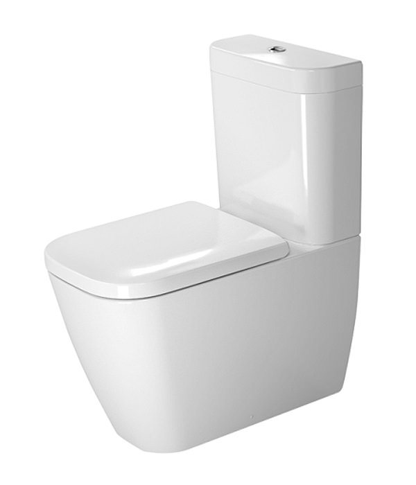 duravit happy d2 close coupled toilet with cistern and seat 213409. Black Bedroom Furniture Sets. Home Design Ideas