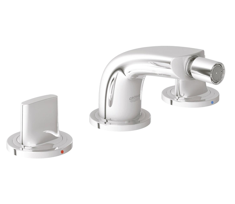 grohe spa ondus 3 hole bidet mixer tap chrome 24031 000. Black Bedroom Furniture Sets. Home Design Ideas