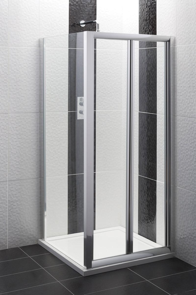 beo framed bi fold shower door 700mm aqbd7