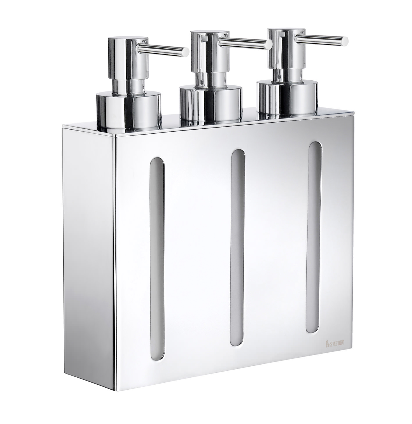Smedbo outline wallmounted triple soap dispenser fk259 - Wall mounted shampoo conditioner dispenser ...