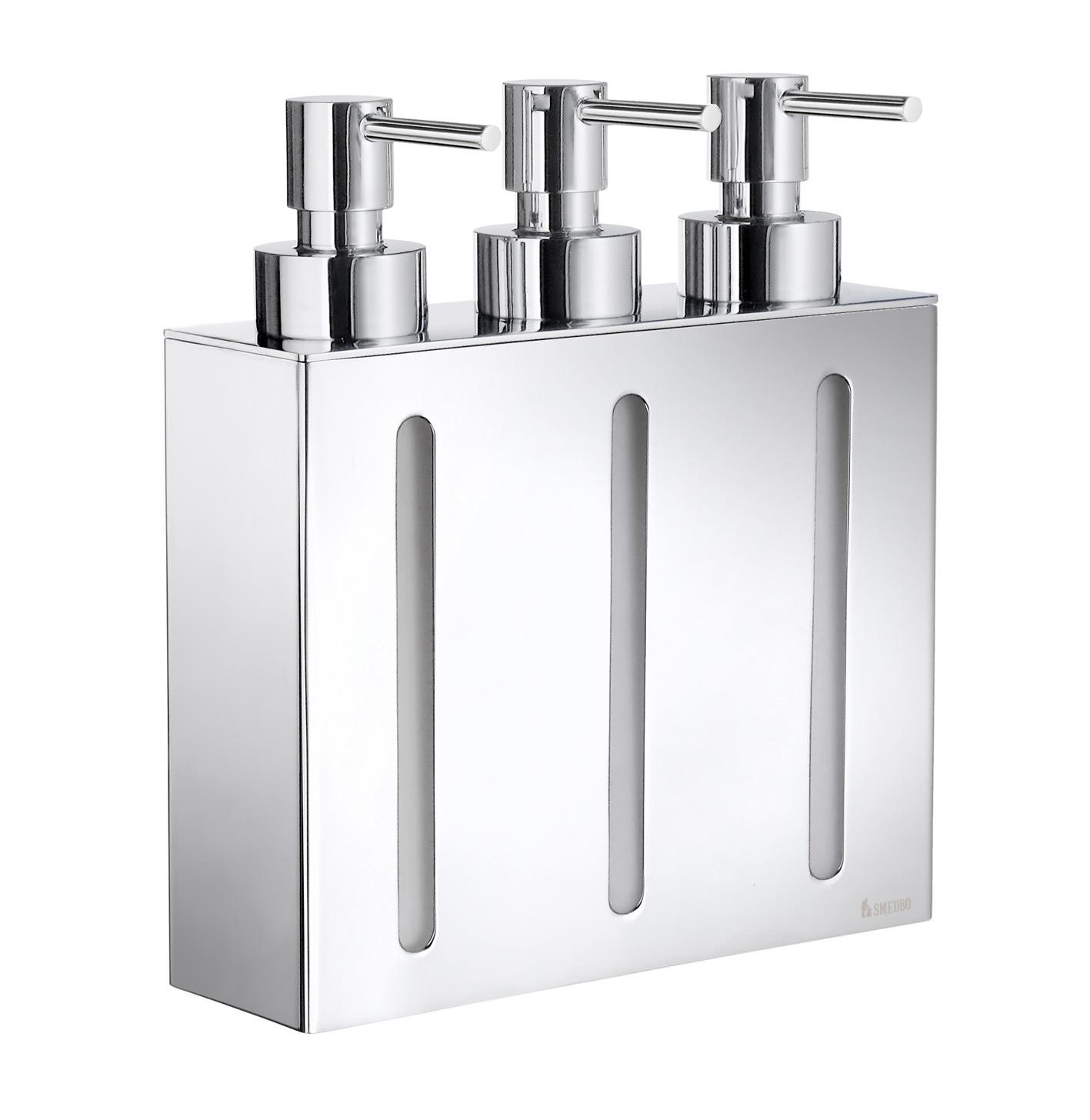 Wall Mounted Dispenser ~ Smedbo outline wallmounted triple soap dispenser fk