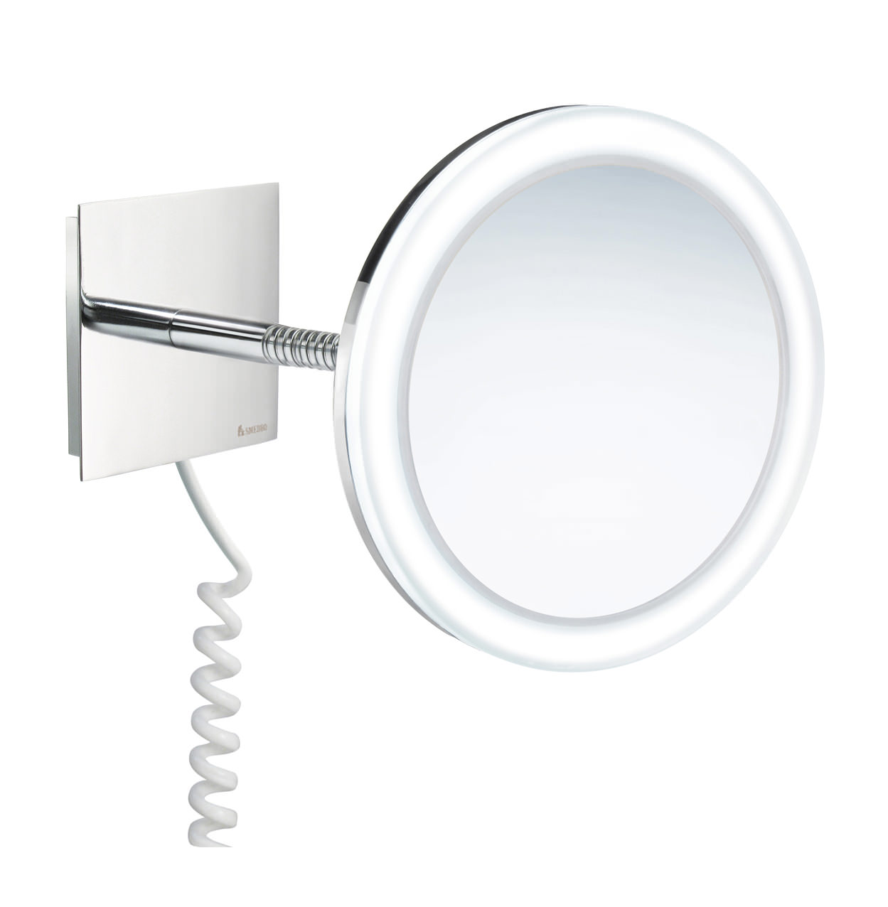 swing arm bathroom mirror smedbo outline swing arm led and make up mirror 20740