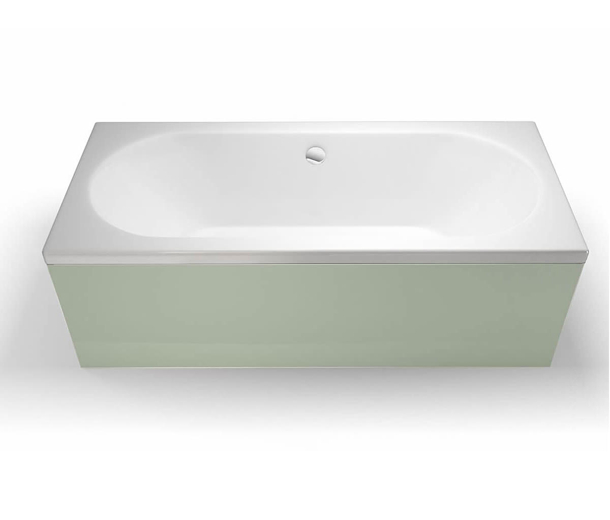 Cleargreen Verde Rectangular Double Ended Bath 1800 x 800mm - R10