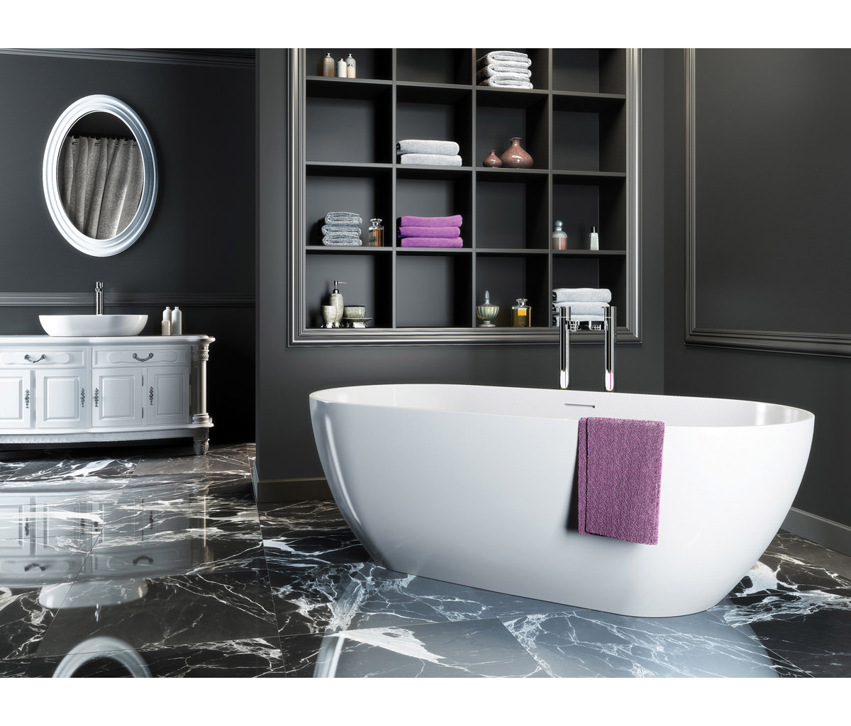 Clearwater Formoso Natural Stone Freestanding Bath 1690 X