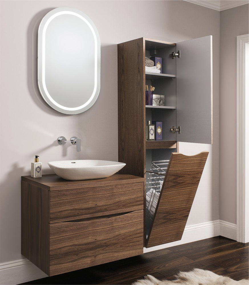 Bauhaus glide ii wall hung tower unit 1600mm height for Bathroom furniture design ideas