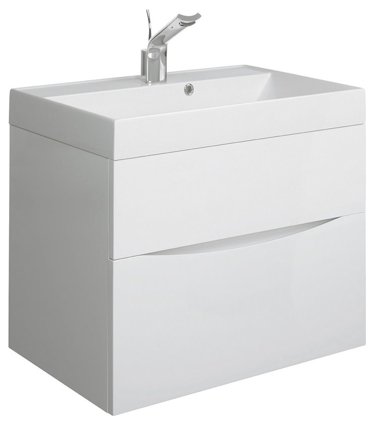 Bauhaus Glide Ii 700 X 455mm Basin Unit White Gloss