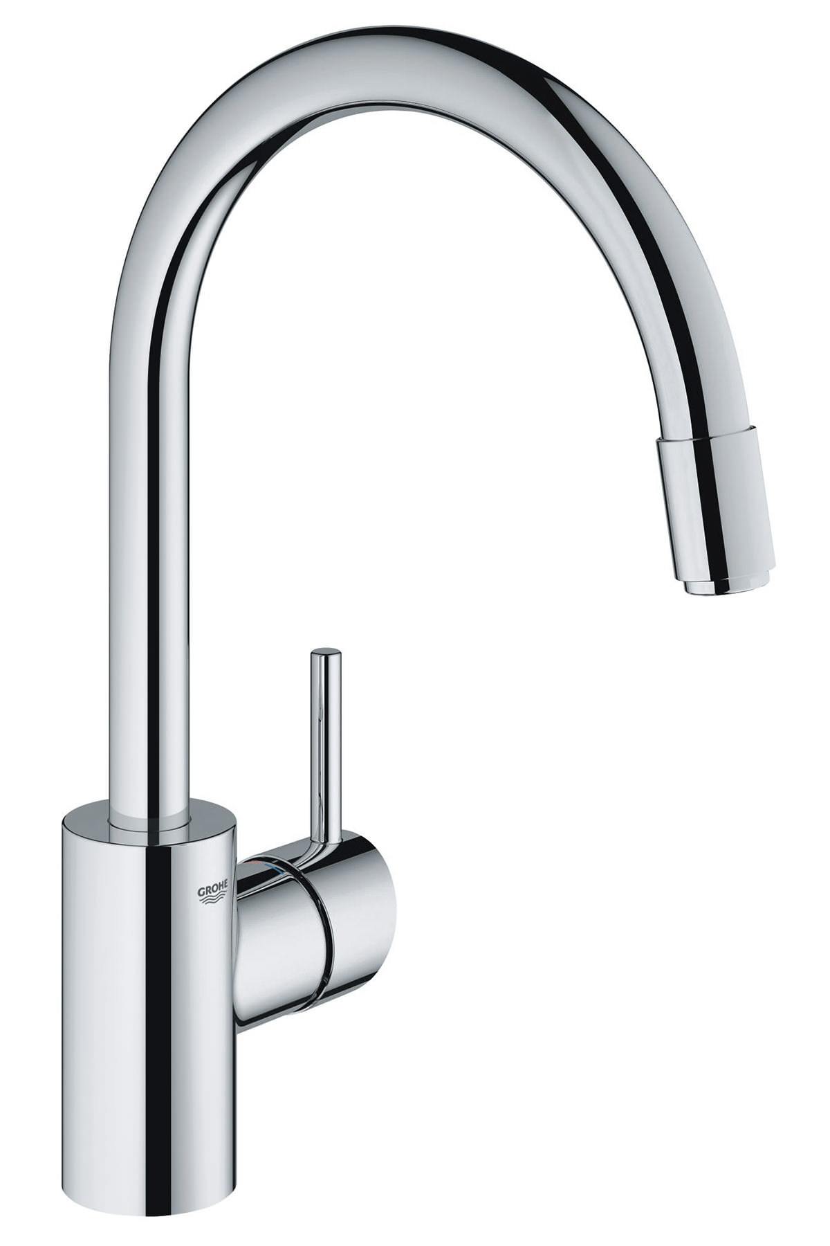 grohe concetto chrome monobloc sink mixer tap 32 663 001. Black Bedroom Furniture Sets. Home Design Ideas