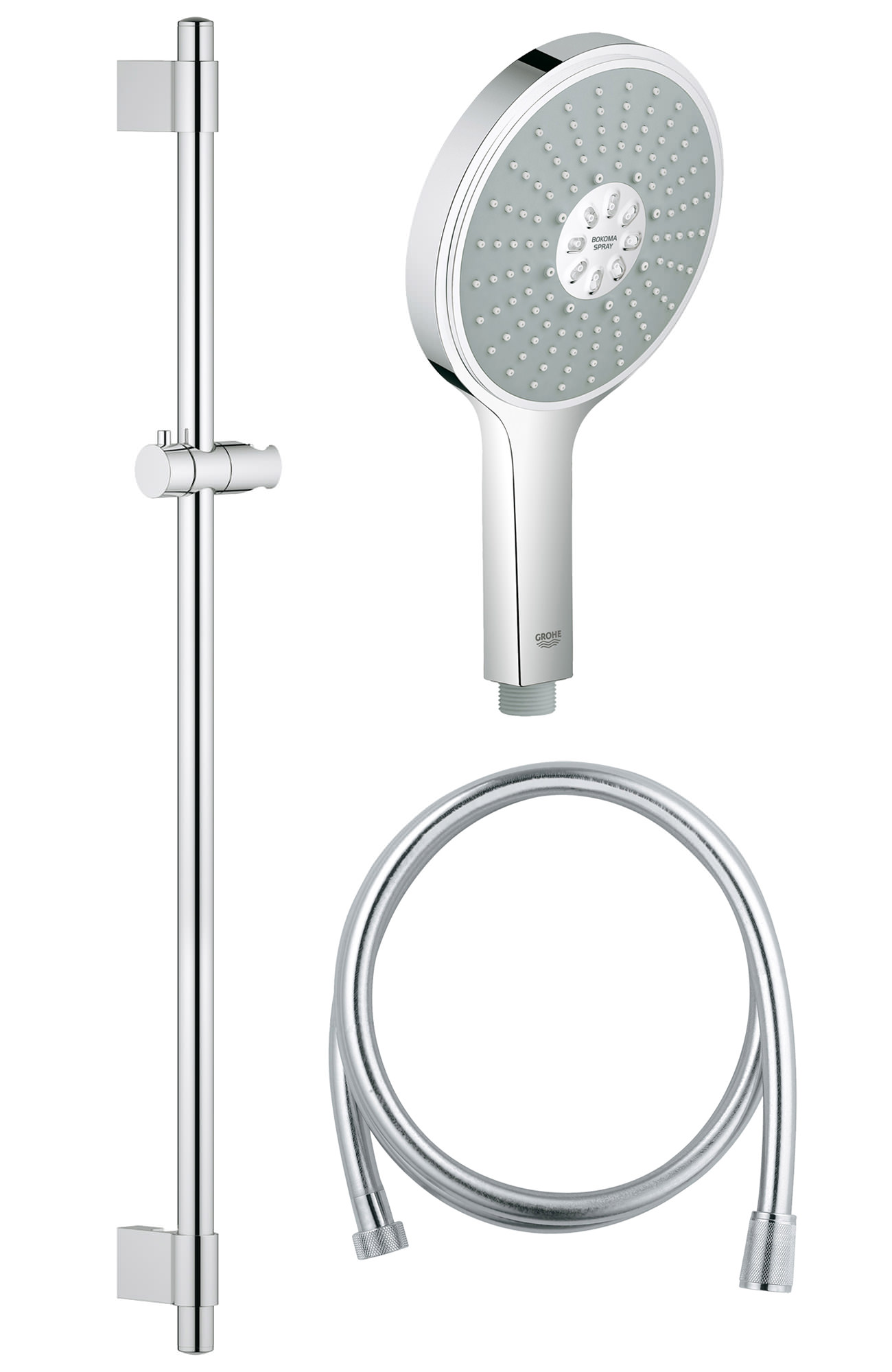 grohe spa power and soul cosmopolitan 160 shower rail set. Black Bedroom Furniture Sets. Home Design Ideas