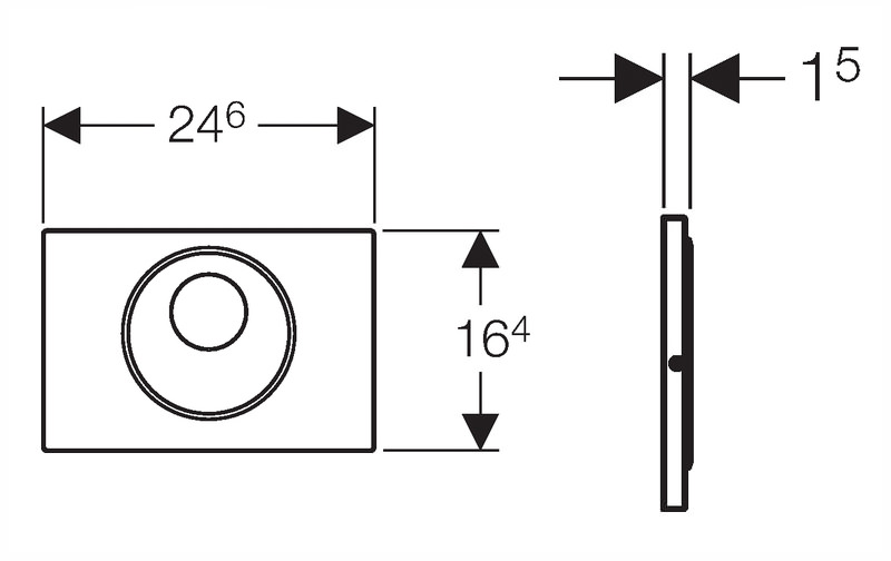 Geberit Sigma10 Main Supply Dual Flush Plate For Up720