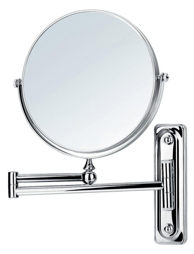 flova floral wall mounted adjustable round shaving mirror fl8908. Black Bedroom Furniture Sets. Home Design Ideas