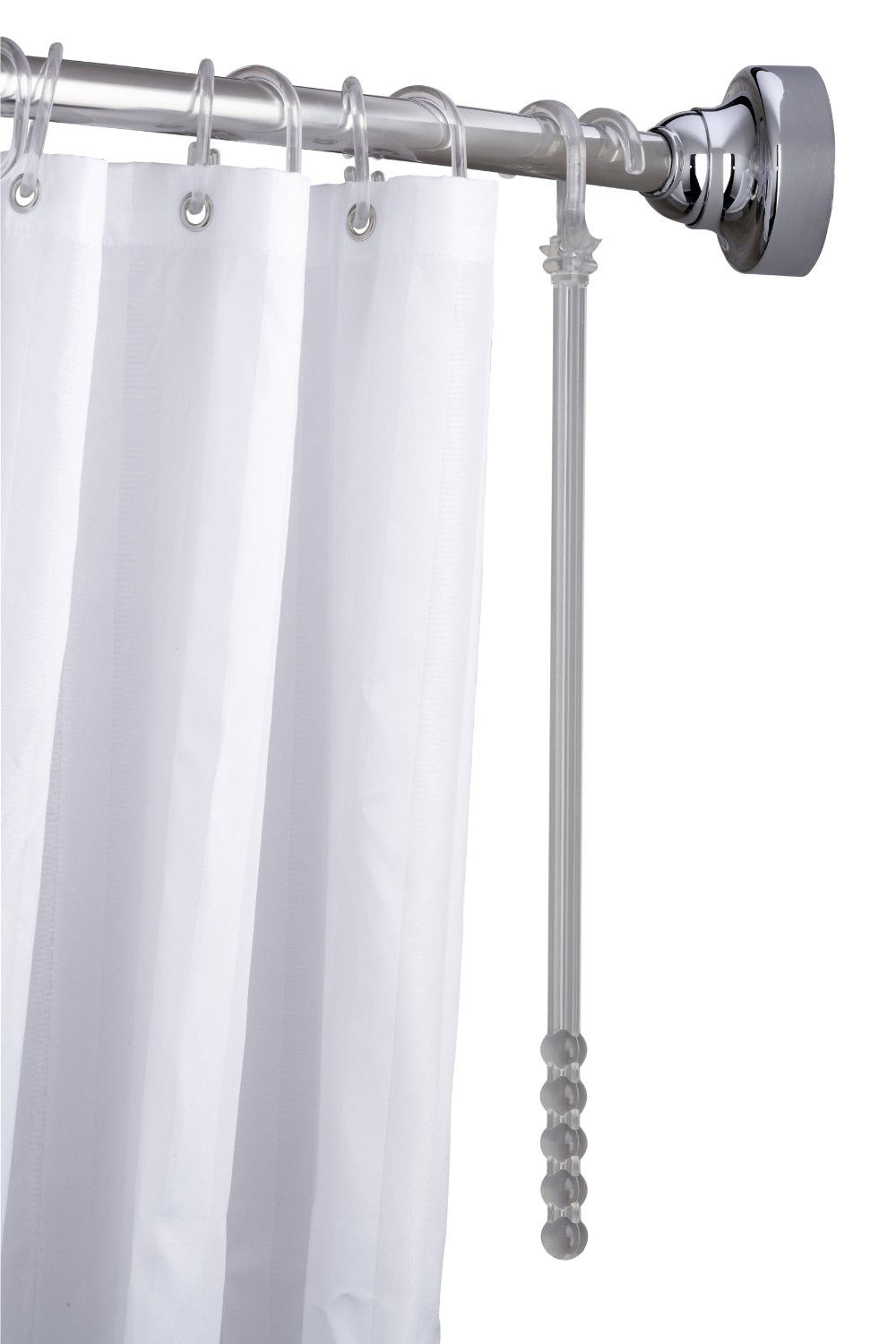 croydex professional space saver shower curtain rod ad179441