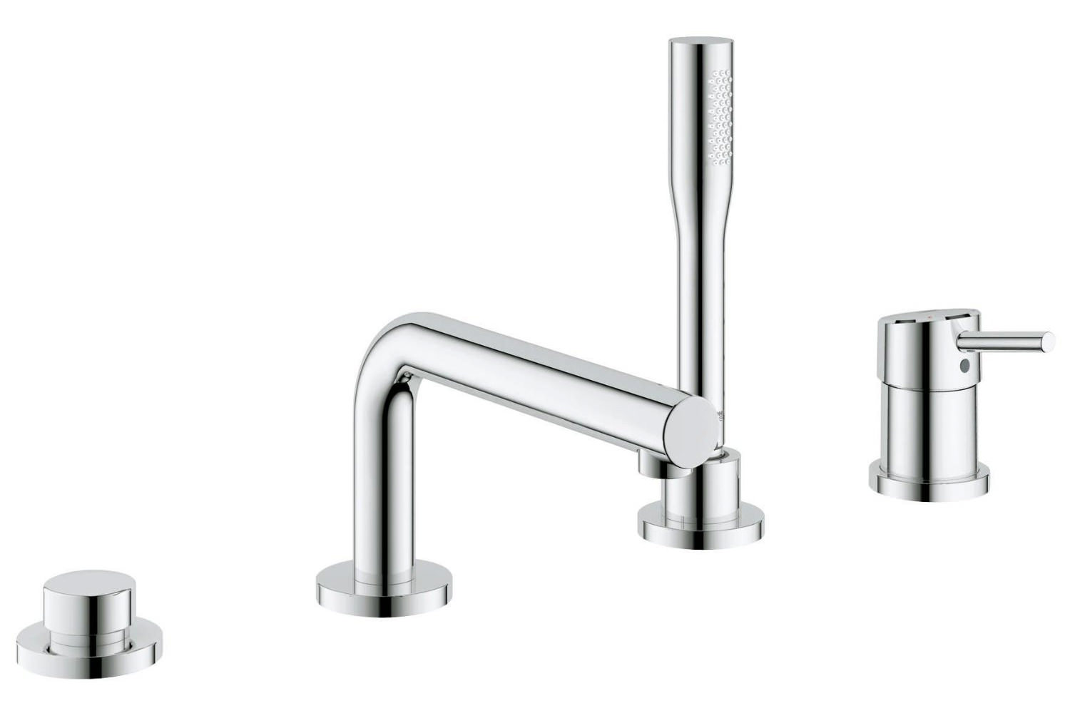 grohe concetto 4 hole single lever bath combination set chrome 19576001. Black Bedroom Furniture Sets. Home Design Ideas