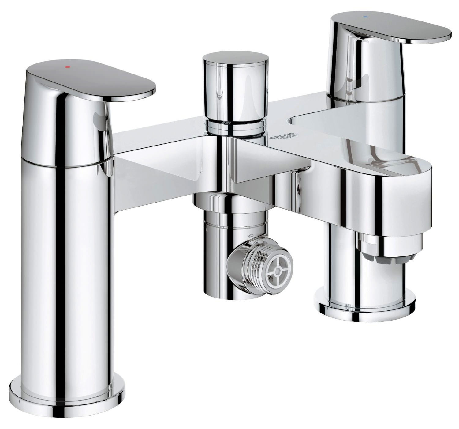 grohe chrome bath shower mixer tap with 2 lever 25129000. Black Bedroom Furniture Sets. Home Design Ideas