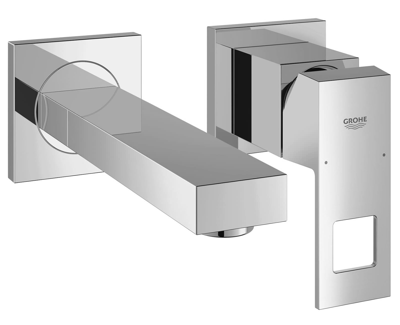 Grohe Eurocube Wall Mounted 2 Hole Basin Mixer Tap