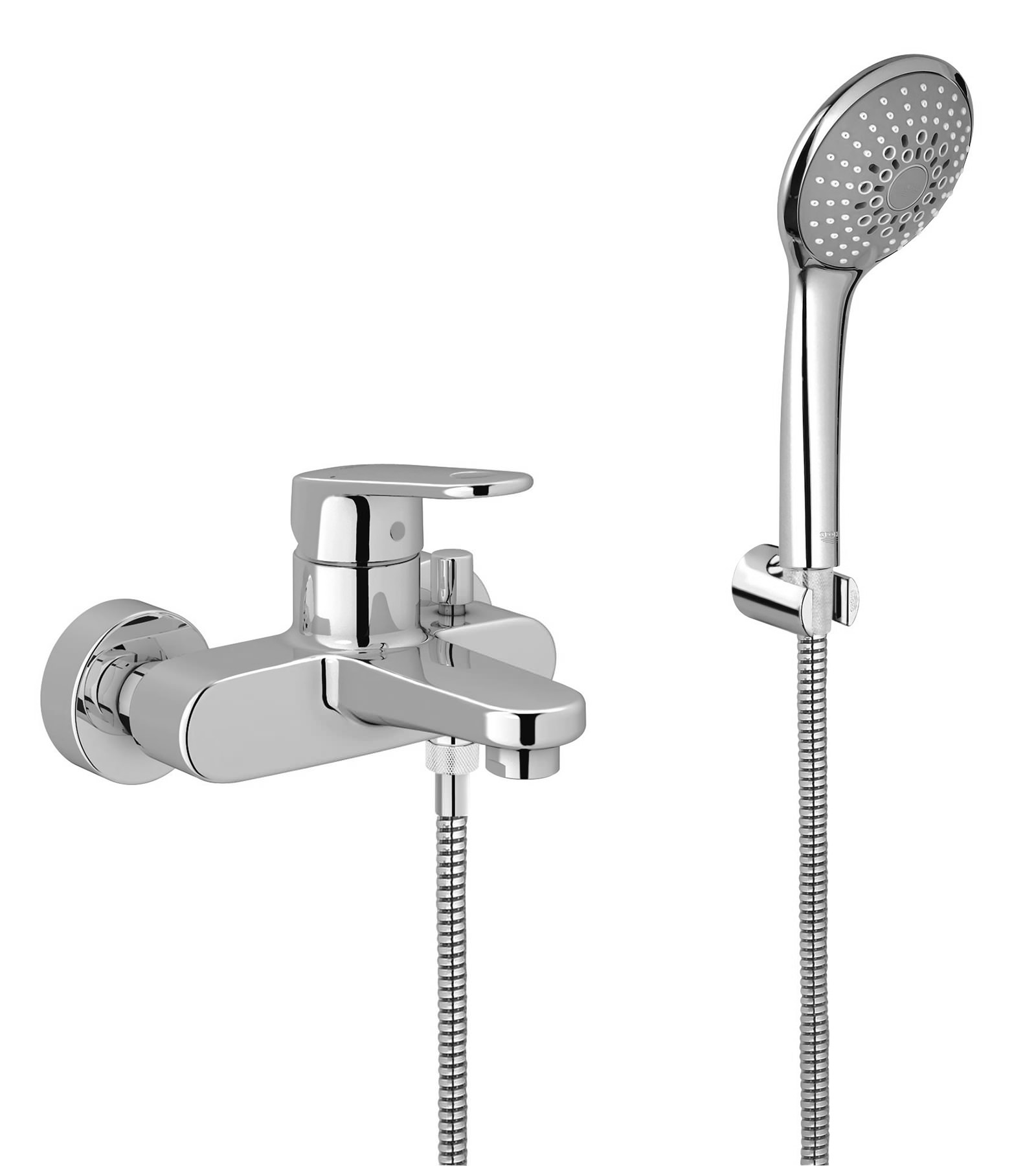 grohe europlus bath shower mixer tap with shower kit. Black Bedroom Furniture Sets. Home Design Ideas