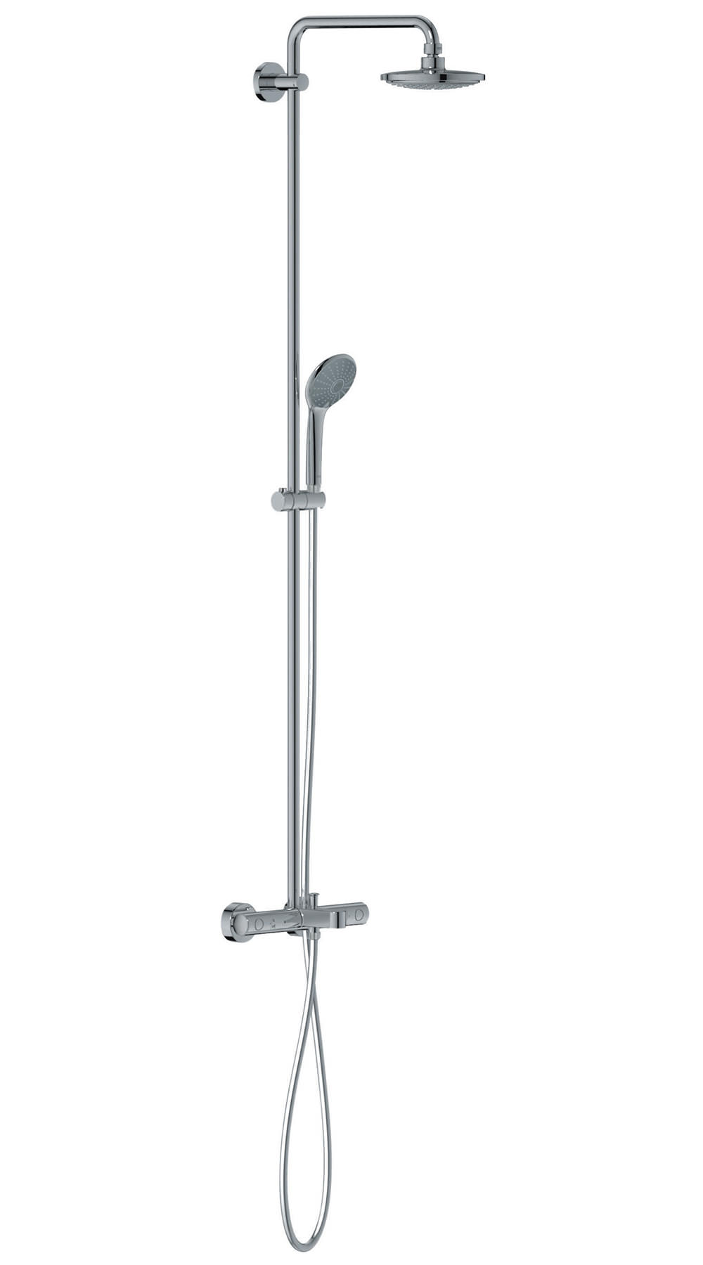 grohe euphoria thermostatic bath shower system chrome bj s home improvement bath amp shower systems