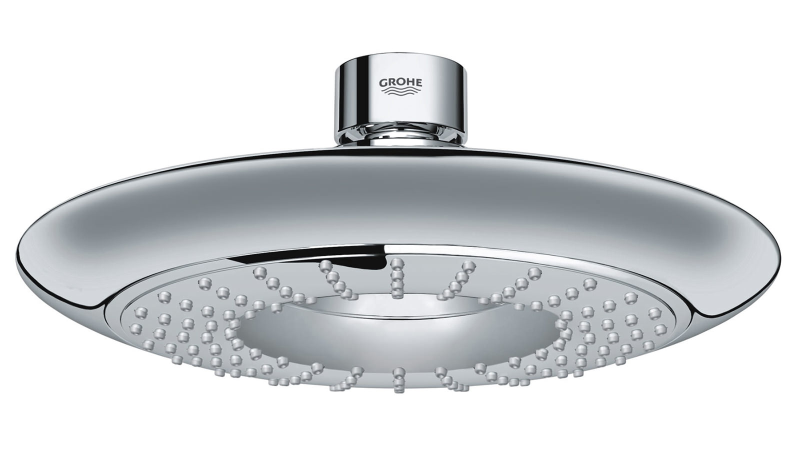 grohe rainshower icon 190 fixed shower head chrome 27439000. Black Bedroom Furniture Sets. Home Design Ideas