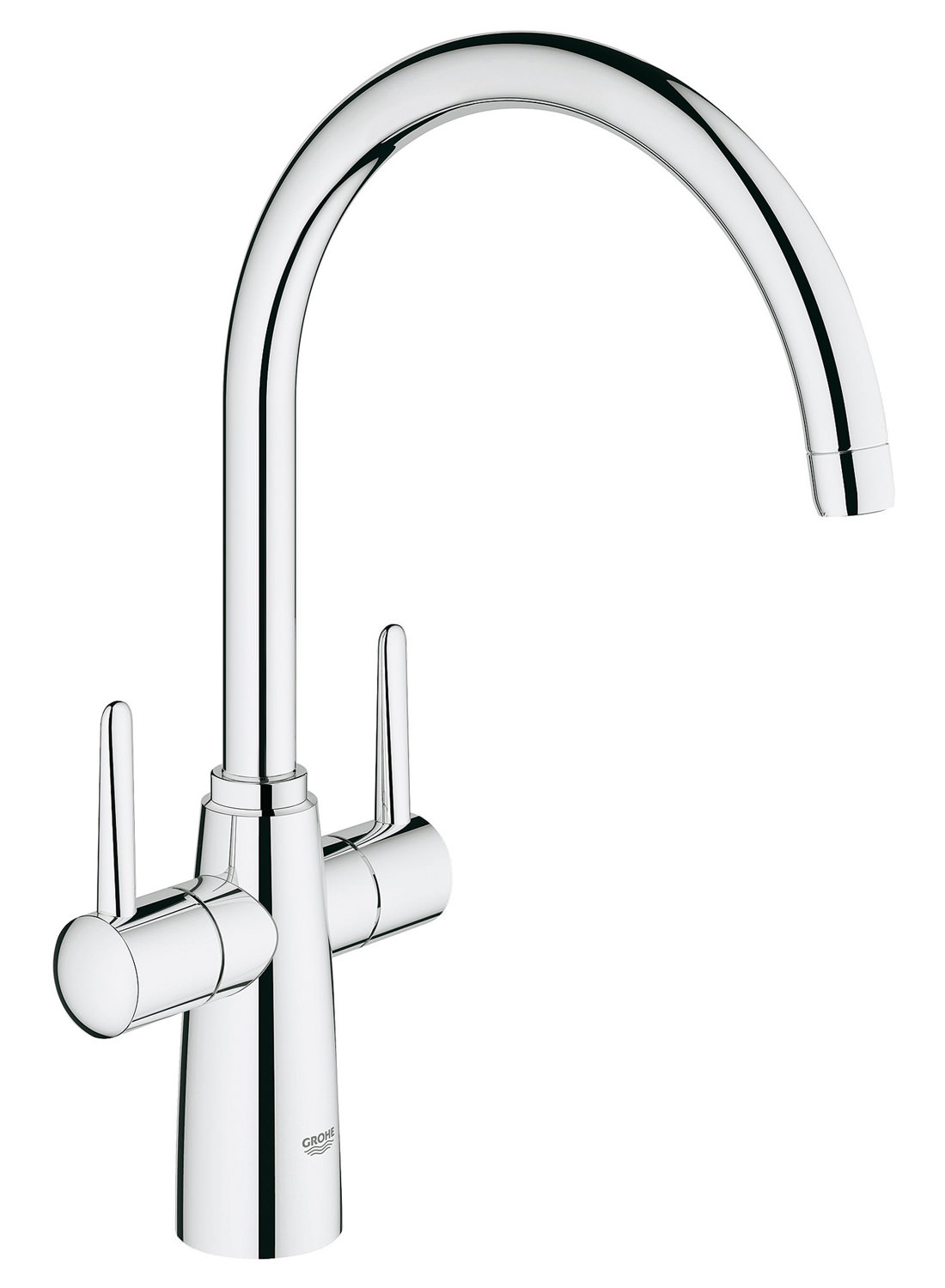 White Kitchen Mixer Tap grohe ambi contemporary 2 handle kitchen sink mixer tap with